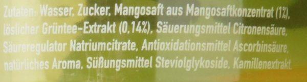 Fuze Tea Mango Kamille Zutaten