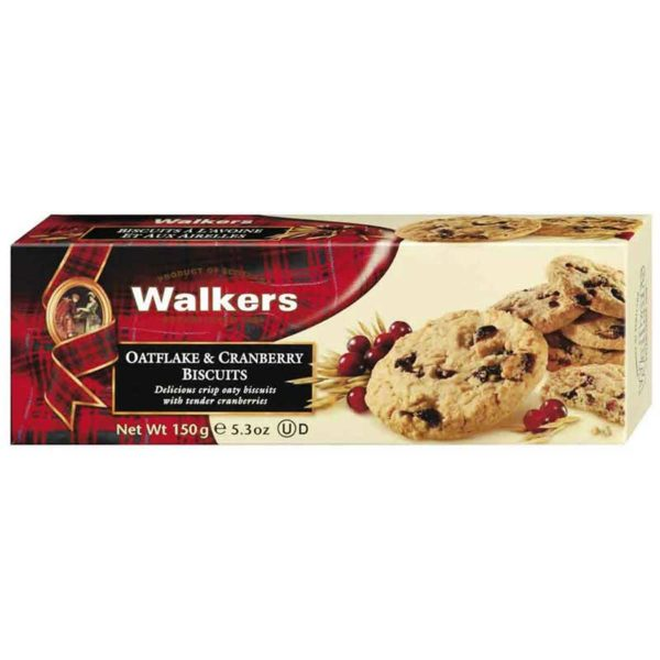 Walkers Oatflake & Cranberry Biscuits 150g